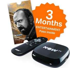 NowTV box with 3 months entertainment pass £14.99 from Currys PC World (usually £24.99)