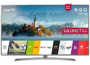 "LG 49UJ750V LED HDR 4K Ultra HD Smart TV, 49"" (2017 model) with Freeview Play & Crescent Stand, Grey £469.00 delivered @ Tesco Direct"