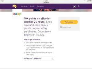 10x nectar points at ebay starting tomorrow 14th July