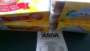 Mr Kipling Summer 6 Trifle Slices / 6 Eton Mess Bakewell Tarts 25p @ Asda Stockport