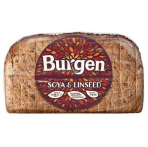 Burger soya & linseed bread 800g for 50p at Iceland