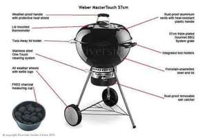 Weber Master-Touch® GBS® 57cm BBQ - Black, free delivery £199.99 ( was £269 )  @ Riverside Garden Centre