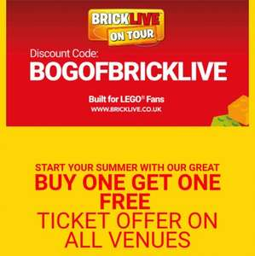 bricklive bogof standard tickets £21.75