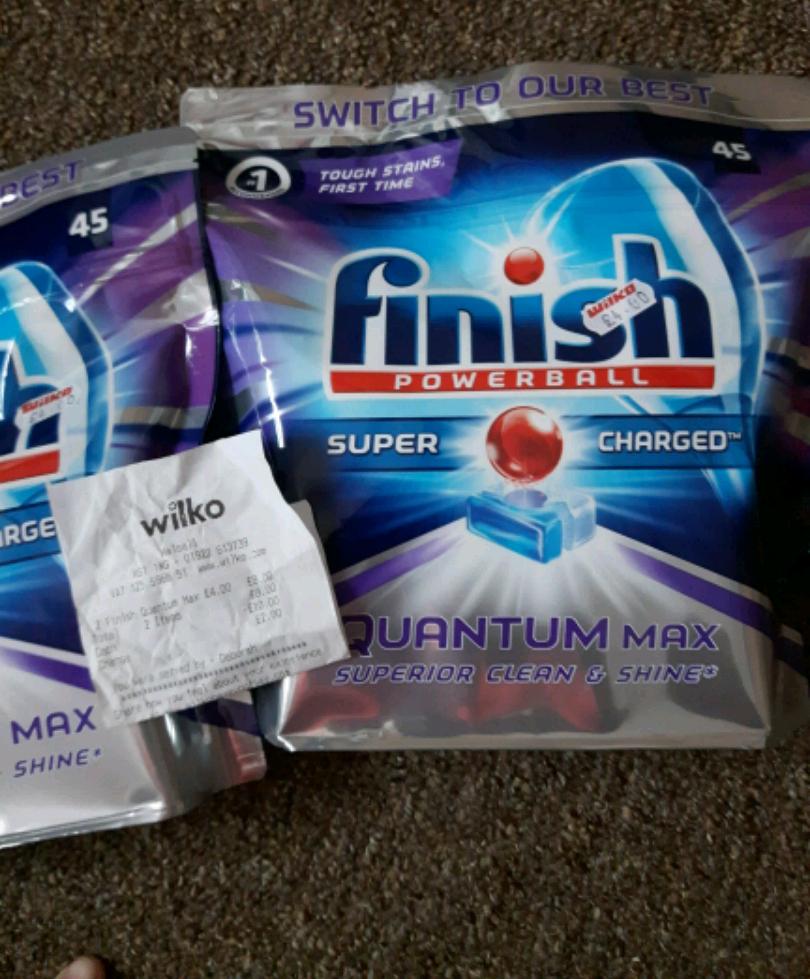 Finish Quantum powerball x45 £4@Wilko Walsall)