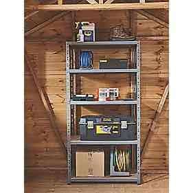 Heavy duty shelving 200kg shelf capacity £19.99 @ Screwfix C&C
