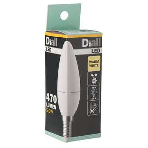 LED Candle Light Bulb Warm White SES 5.9W (40W)  £0.99  Screwfix
