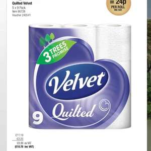 Costco warehouse sale Velvet quilted x 45 rolls - £10.78