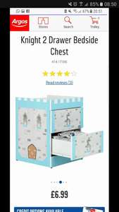 Kids knight bedside drawers  £6.99 (+ p&p) £13.94 delivered argos