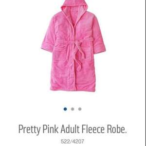 pink Adult fleece robe £6.99 at Argos (C&C)