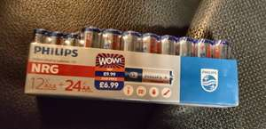 Philips mega 36 pack of AA and AAA batteries was £6.99 priced at £4.99 scanning at £2.99! @ B&M