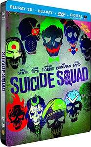 Suicide Squad [Blu-ray 3D + 2D + 2D Extended Edition + DVD + Digital Copy UltraViolet - SteelBook Case] £15.58 including shipping @ Amazon France