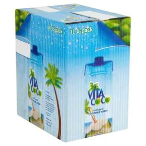Vita Coco natural coconut water 1L x 6 packs @ Costco warehouse
