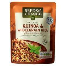Seeds of Change (Organic) Quinoa & Wholegrain Rice (240g) is £2.29 at Waitrose £2 at Tesco -  69p @ Home bargains