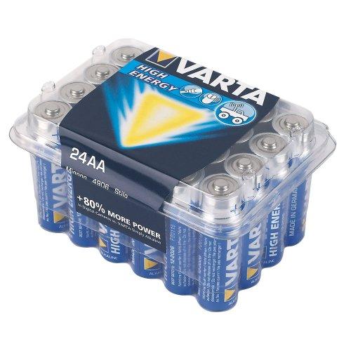 Varta Batteries - 24 Pack - AAA or AA - £5.99 - Screwfix
