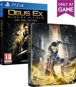 Deus Ex: Mankind Divided Steelbook Edition (PS4/XBO) @ Game £7.99