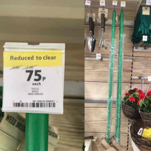 Wire weed brush 75p @ Tesco