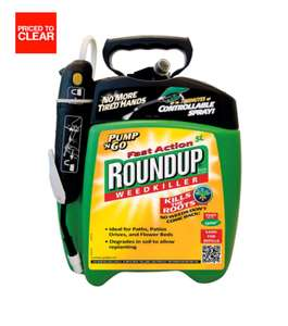 ROUNDUP FAST ACTION PUMP 'N' GO WEED KILLER 5L at B&Q for £10