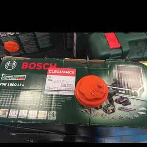 Bosch 18v combi drill and 241 pc accessories £55 instore at B&Q