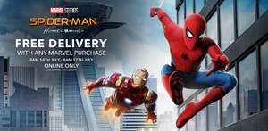 Free Delivery On Your WHOLE Order with any Marvel Purchase (excluding party) @ Disney Store - prices start from £2