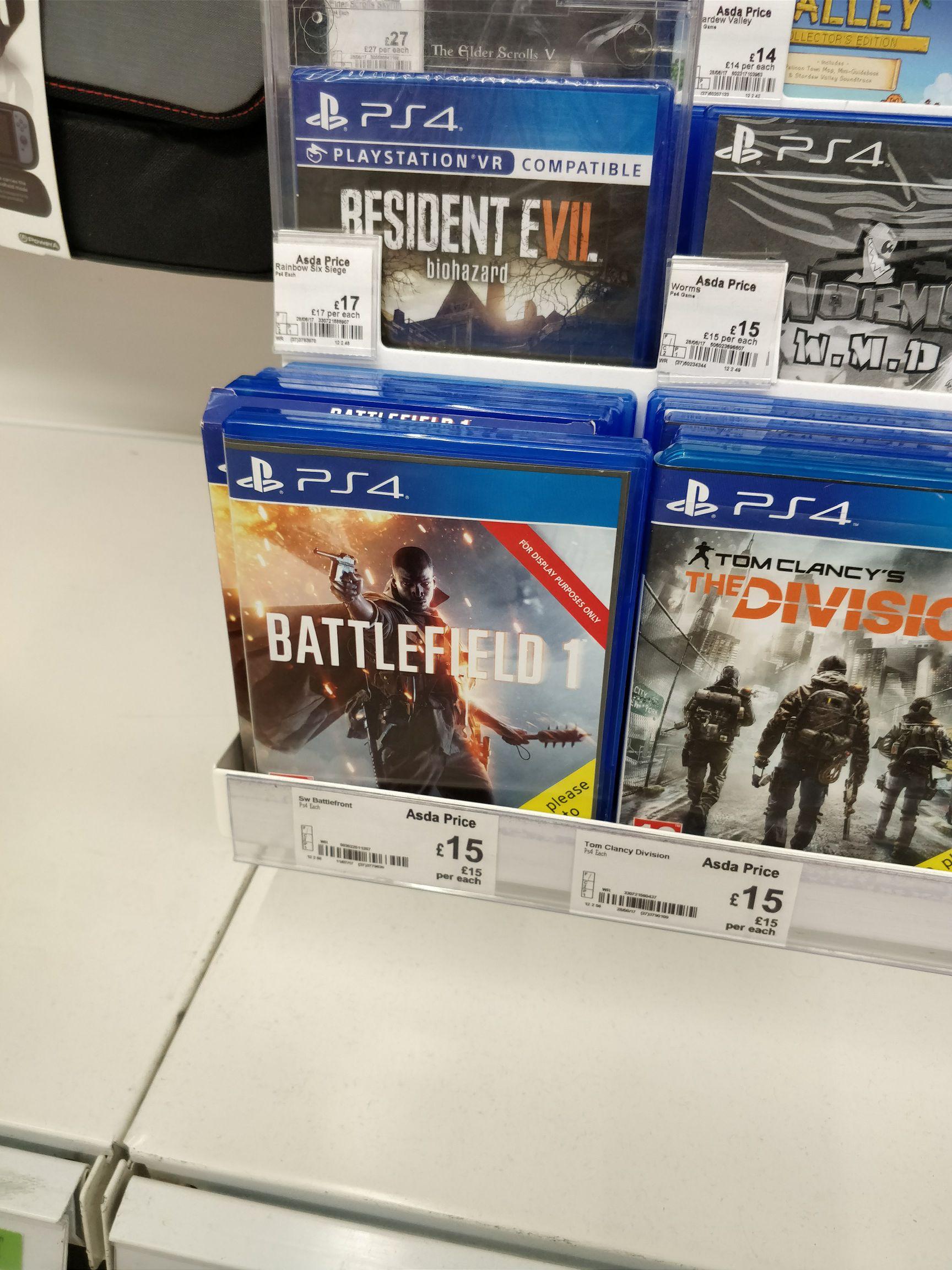 Battlefield 1 PS4 £15 - ASDA