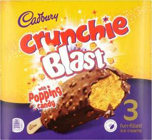 Cadbury Crunchie Blast with Poppin' Candy 3 x 100ml (300ml) / Cadbury Dairy Milk Ice Cream Swirl Luxury Ice Cream 3 x 100ml (300ml) was £2.50 now £1.25 @ Iceland
