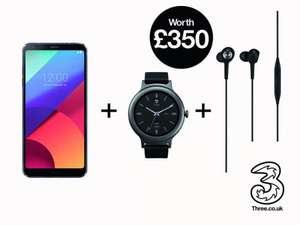 LG G6 and LG watch 3 and B and O headphones 500mb data - £26 a month, £99 upfront - £723 @ 3 Store