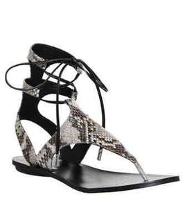 Kendall - Kylie Faris Ankle Tie Sandals Snake Print Leather for £20 at Office (free C&C)