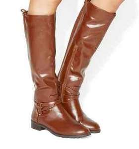 Office Kipper Riding Knee Boots (was £88.00). Free C&C £22