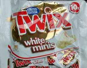 White twix minis - pack of 10 £1 in poundland!!!!