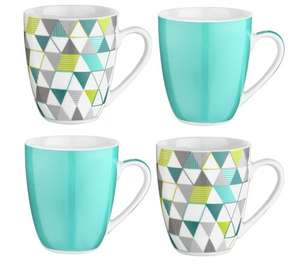 Argos - ColourMatch Set of 4 Mugs - Geo - £3.99