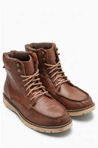 Tan Apron Hiker Leather Boot was £60 now £30 @ NEXT