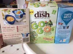 2 Little dish biscuit boxes & 2 meal vouchers for £3 @ Tesco - should cost ~£9!