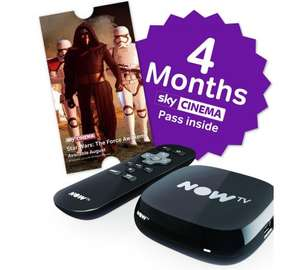 NOW TV box with 4 months Sky Cinema £7 instore @ Tesco Widnes Extra