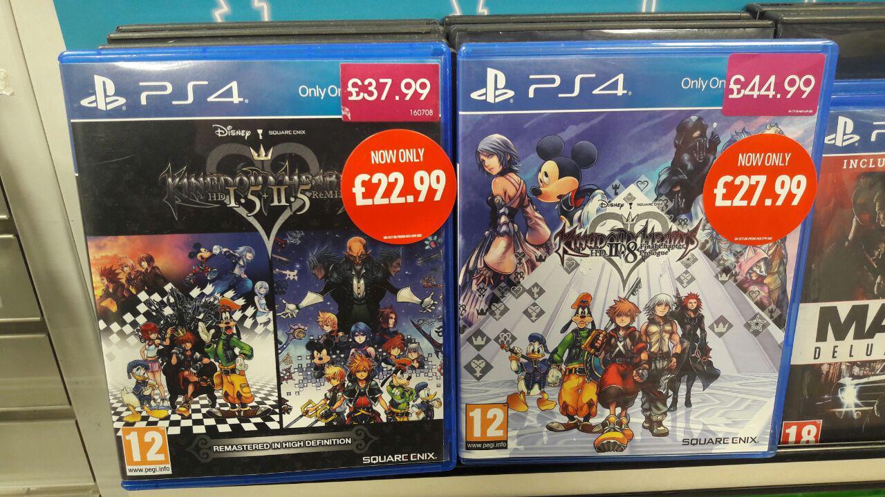 Kingdom Hearts 1.5/2.5 [PS4] £22.99, Kingdom Hearts 2.8 [PS4] £27.99 Instore at Game