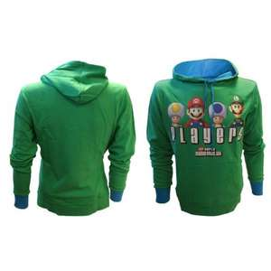 Mario - Players Hoody Green Small / Large  £20.99 Del @ Nintendo Store