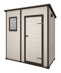 Keter Manor Pent Outdoor Plastic Garden Storage Shed, 6 x 4 feet - Large, Beige £199.99 Del @ Amazon