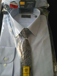 Shirt and tie set slim fit £6.50 instore @ Marks and Spencer outlet in ashford