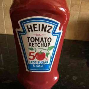 Tomato Ketchup 50% less sugar & salt 665g 57p at Tesco