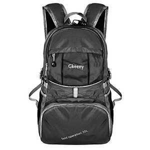 Gkeeny Lightweight Foldable Backpack 35L Ultralight Travel Hiking Camping Outdoor Rucksack Sold by Gkeeny Direct (EU) and Fulfilled by Amazon £13.99 Prime or £17.98 non prime