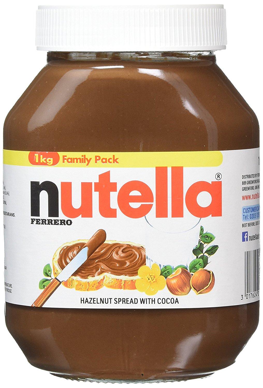 FERRERO Nutella Hazelnut Chocolate Spread, 1kg (Pack of 2) £5.33 [add on item] - Amazon