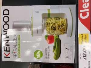 Kenwood electric spiralizer £12 @ tesco Horwich.