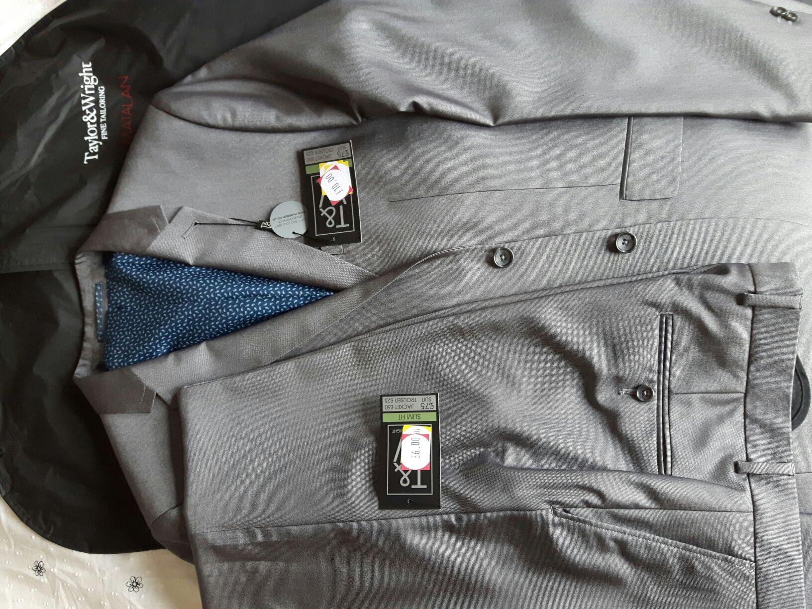 Blake Hishine Grey Slim Fit Suit at Matalan for £26