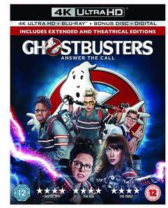 Ghostbusters 4K Ultra HD & Blu-ray & Bonus Disc & Digital [2016] @ Base - £11.89