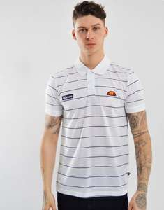 Ellesse Sovana Striped Polo Shirt White - £7.50 (+£2.99 Shipping) @ Terraces Menswear