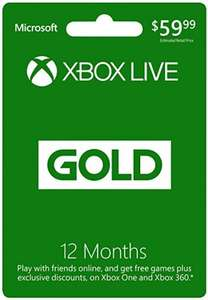 Xbox LIVE 12 months GOLD $24.99 @Amazon US