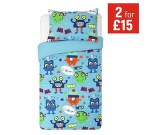 Childrens and toddler bedding sets from £3.59 eg monster toddler set now £3.59, monster single size £3.99 more in post @ Argos
