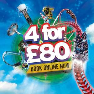 4 tickets for £80 / £20 each when booked a day in advance saving upto £76 on gate prices this Summer @ Drayton Manor (Travelodge Rooms From £28 in OP)