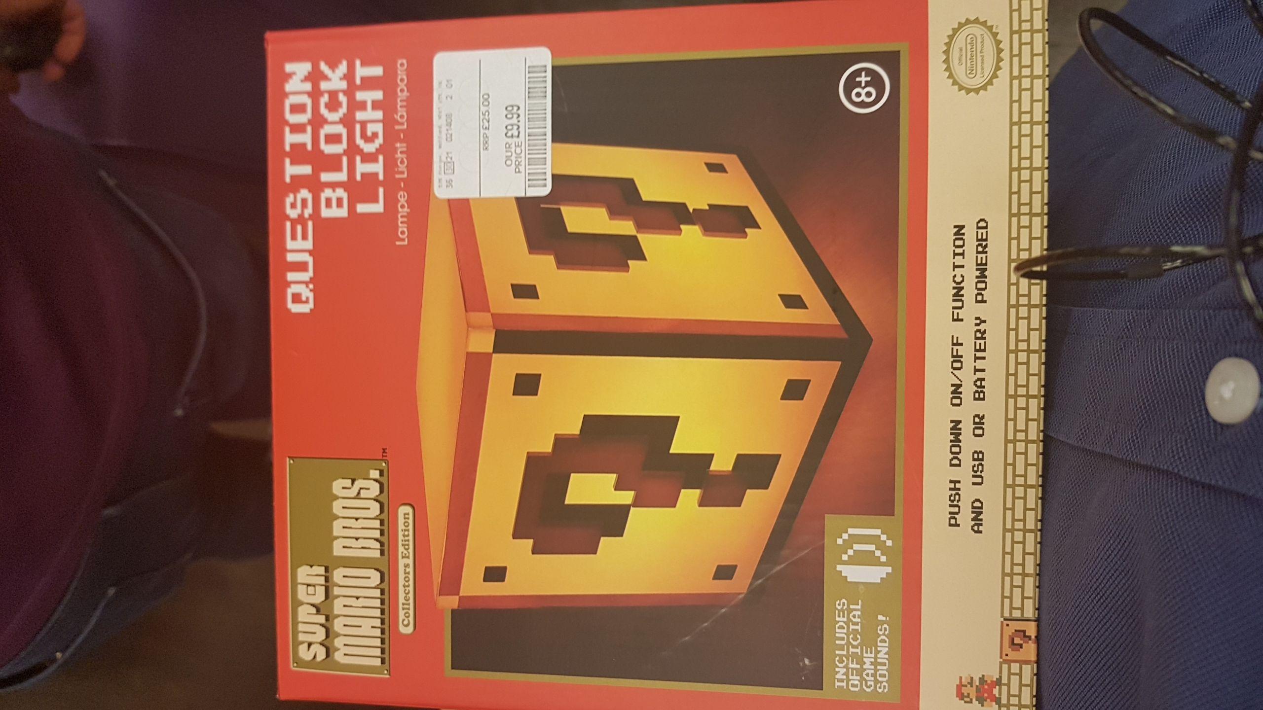 Super Mario Bros Question Block Light £9.99 instore @ TK Maxx - Leicester