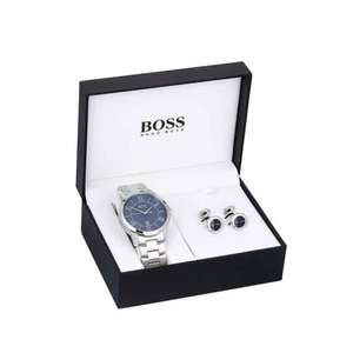 Hugo boss men's cuff link and bracelet watch gift set £62.10 @ Ernest jones