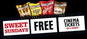 Sweet Sundays - two large bags of malteasers and a cinema ticket for £3.40 - £1.70 each @ asda